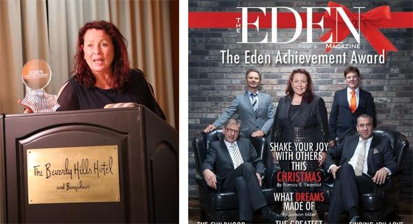 Gewinnerin des Eden Achievement Award 2017