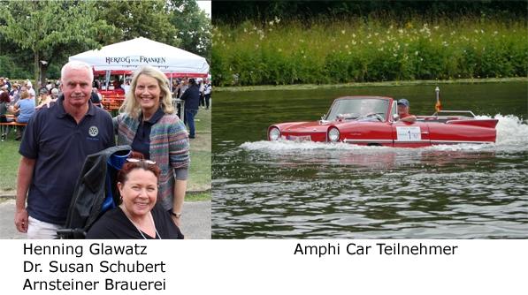 Henning Glawatz & Dr. Susan Schubert - Arnsteiner Brauerei, Astrid Arens, Amphi Car