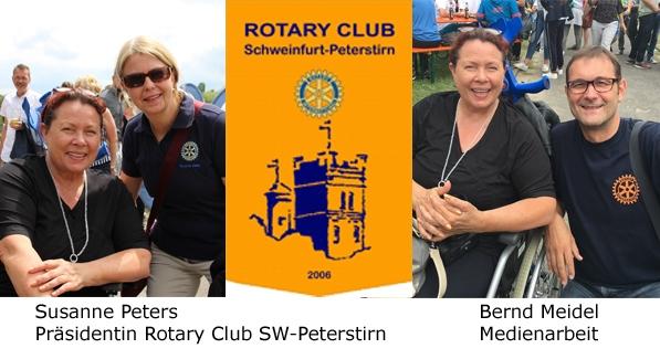 Astrid Arens, Susanne Peters - Rotary Club Schweinfurt-Peterstirn, Bernd Meidel